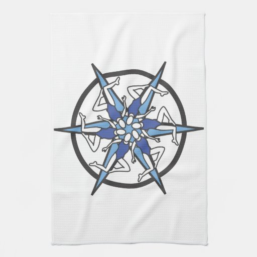 Synchronized Swimming Circle Logo in Blue Hand Towels