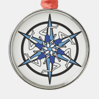 Synchronized Swimming Circle Logo in Blue Ornament