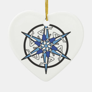 Synchronized Swimming Circle Logo in Blue Christmas Ornament