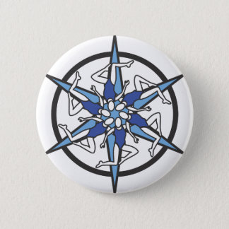 Synchronized Swimming Circle Logo in Blue Pinback Button