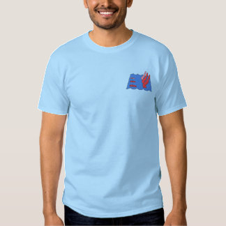 Synchronized Swimming Embroidered T-Shirt