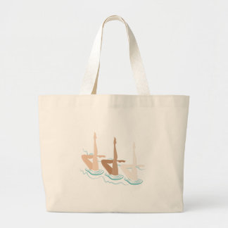 Synchronized Swimming Jumbo Tote Bag