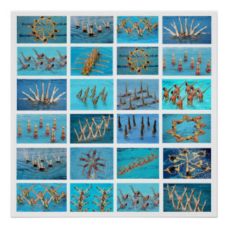 synchronized swimming poster