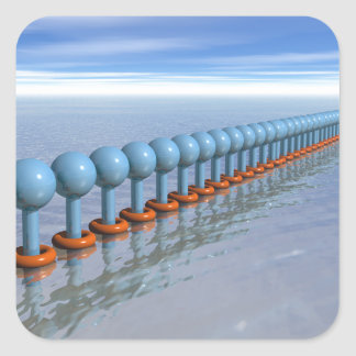 Synchronized Swimming Square Sticker