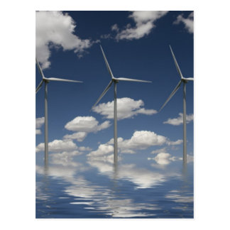 Syncronised Wind Turbines Postcard
