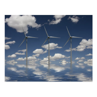Syncronised Wind Turbines Postcard