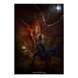 Synd Dragon Knight Canvas Poster