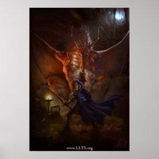 Synd Dragon Knight Canvas Print