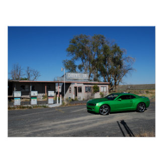Synergy Green Fifth Generation Chevy Camaro Posters