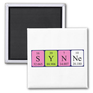 Synne periodic table name magnet