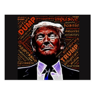 Synonyms for Trump With  Evil Trump Face Postcard