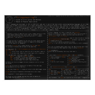 Syntax and Methods in the C langauge Posters