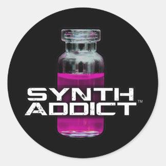 Synth Addict Classic Round Sticker