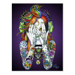 Synthea Psytrance Tattoo Disk Jockey Fae Postcard