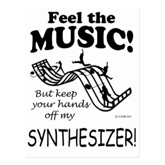 Synthesizer Feel The Music Postcard