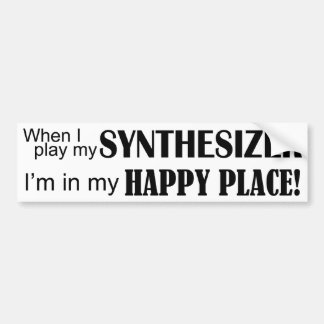 Synthesizer Happy Place Bumper Sticker