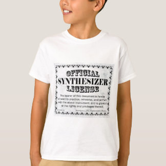 Synthesizer License T-Shirt