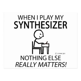 Synthesizer Nothing Else Matters Postcard