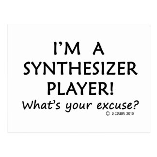 Synthesizer Player Excuse Postcard