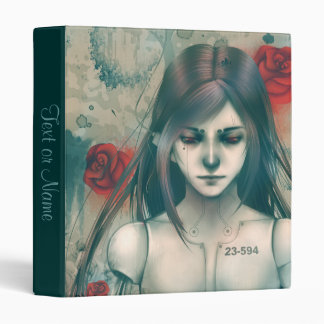 """Synthetic Beauty Blue version 1"""" 3 Ring Binder"""