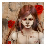 Synthetic Beauty Red version 24X24 Print
