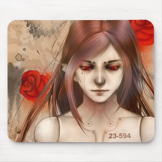 Synthetic Beauty Red version Mouse Pad