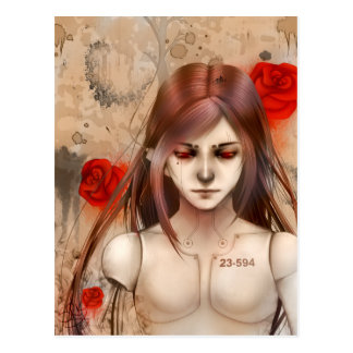 Synthetic Beauty Red version Postcard