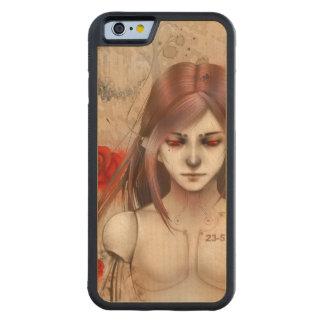 Synthetic Beauty  Rose Red version Carved® Maple iPhone 6 Bumper