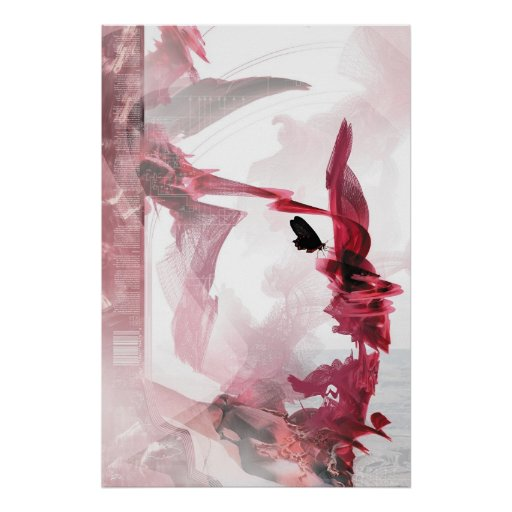 Synthetic Rose Poster