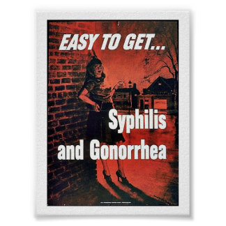 Syphilis And Gonorrhea Poster
