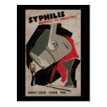 Syphilis Menace To Industry Post Card