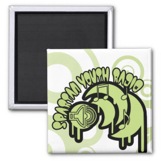 SYR Dripping Green Logo 2 Inch Square Magnet