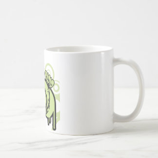 SYR Dripping Green Logo Classic White Coffee Mug