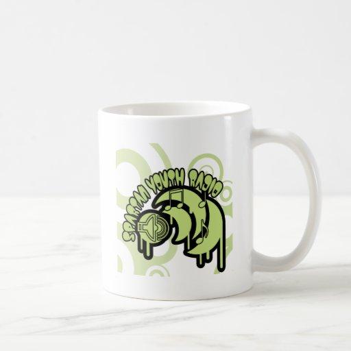 SYR Dripping Green Logo Coffee Mugs