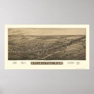Syracuse del este mapa panorámico de NY - 1885 Posters