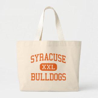 Syracuse - dogos - alta - Syracuse Kansas Bolsa Tela Grande