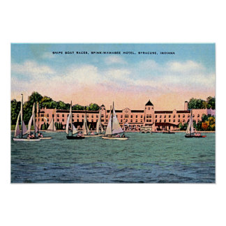 Syracuse, Indiana Spink Hotel on Lake Wawasee Poster
