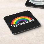 SYRACUSE LGBT PRIDE RAINBOW BEVERAGE COASTER