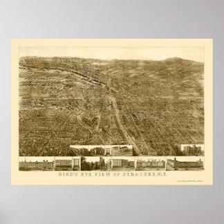 Syracuse mapa panorámico de NY - 1868 Posters