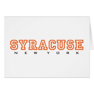 Syracuse, New York - Letters Card