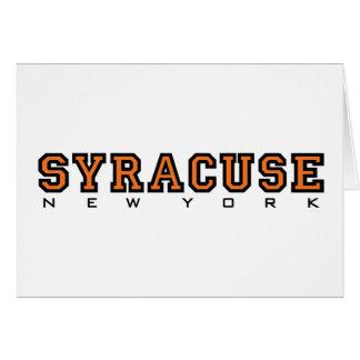 Syracuse, New York - Ltrs2 Card