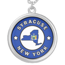 Syracuse New York Silver Plated Necklace