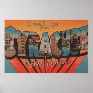 Syracuse, Nueva York - escenas grandes 2 de la let Impresiones