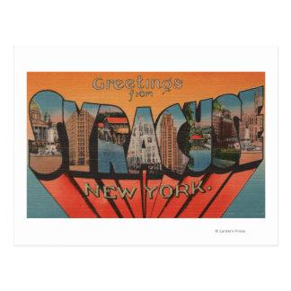 Syracuse, Nueva York - escenas grandes de la letra Postal