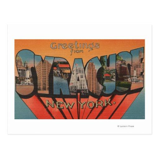 Syracuse, Nueva York - escenas grandes de la letra Tarjeta Postal