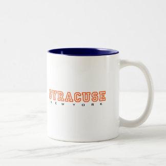 Syracuse, Nueva York - letras Taza De Café