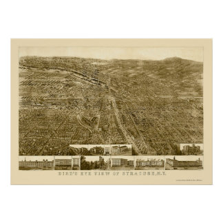 Syracuse, NY Panoramic Map - 1868 Poster