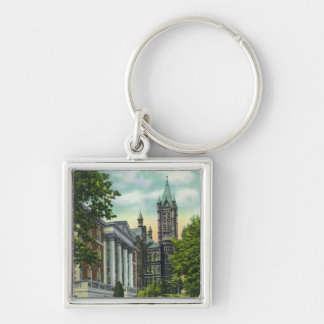 Syracuse U Campus View Showing Crouse College Keychain