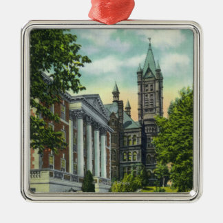 Syracuse U Campus View Showing Crouse College Metal Ornament