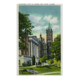 Syracuse U Campus View Showing Crouse College Poster